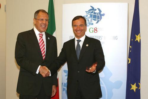 Sergej Lavrov a Franco Frattini
