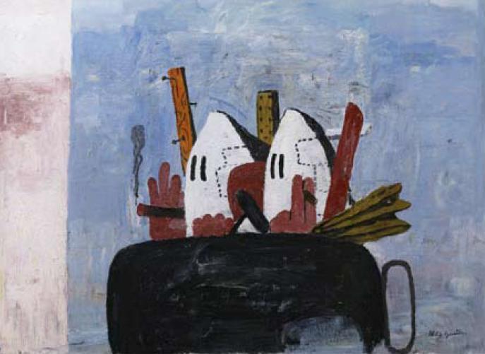 Philip Guston: Předměstí (1969)