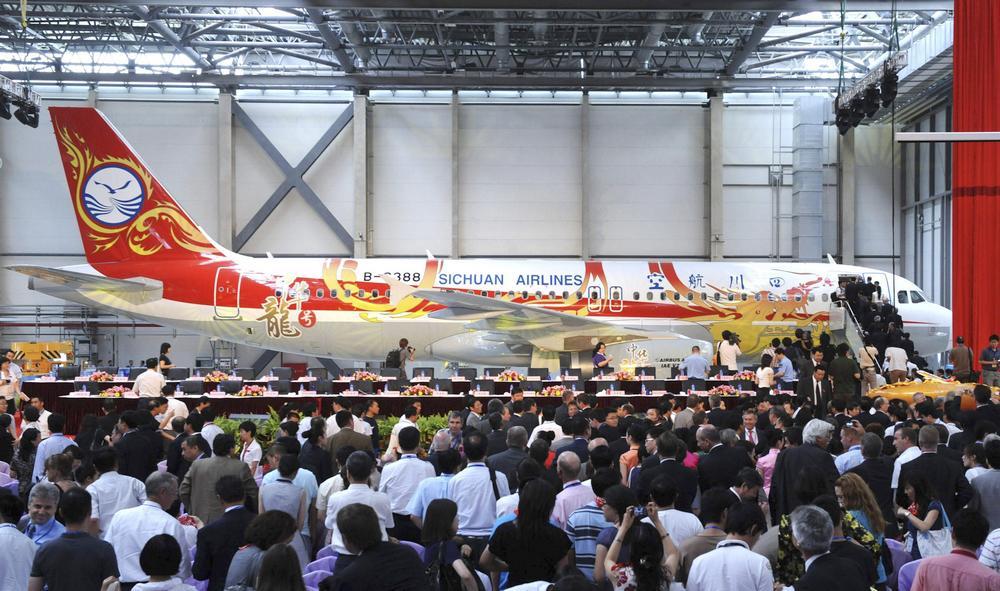 První Airbus vyrobený v Číně