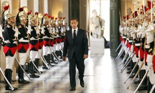 Nicolas Sarkozy na zámku Versailles