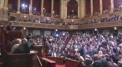 Zasedání francouzského parlamentu ve Versailles