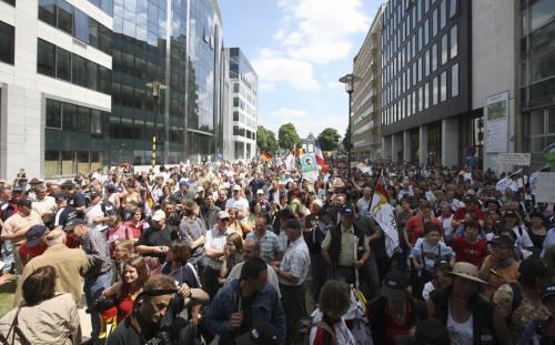 Zemědělci protestovali v Bruselu