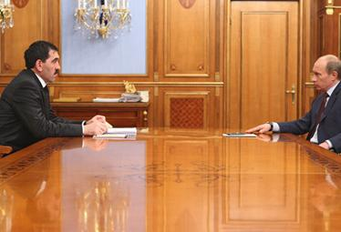 Junus-Bek Jevkurov a Vladimir Putin