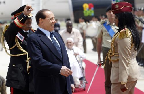 Muammar Kaddáfí a Silvio Berlusconi