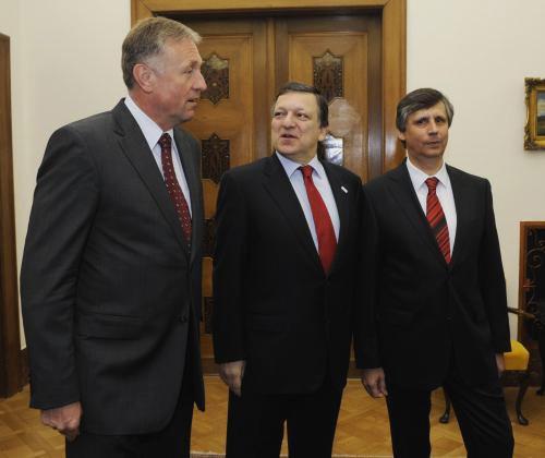 Topolánek, Barroso a Fischer