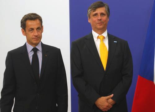 Nicolas Sarkozy a Jan Fischer