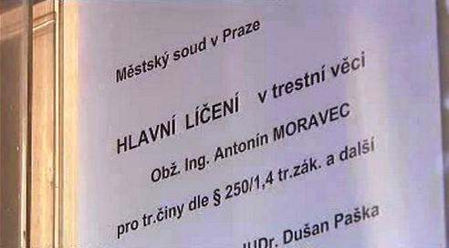 Soud s Antonínem Moravcem
