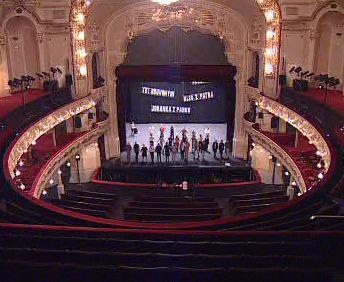 Interiér karlínského divadla