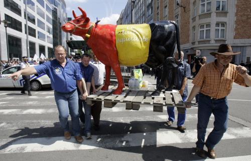Demonstrující zemědělci