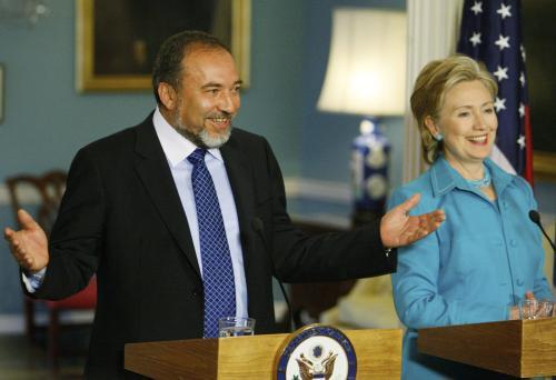 Avigdor Lieberman a Hillary Clintonová