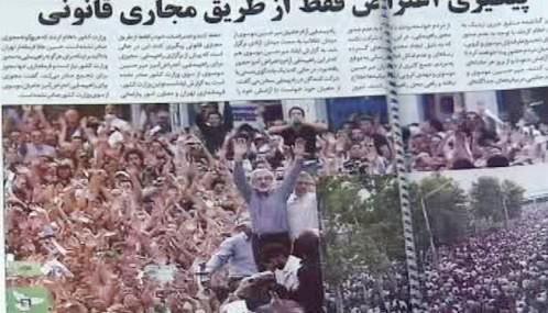 Íránský tisk o povolebních nepokojích