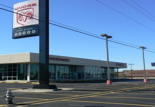 Uzavřená prodejna firmy Chrysler