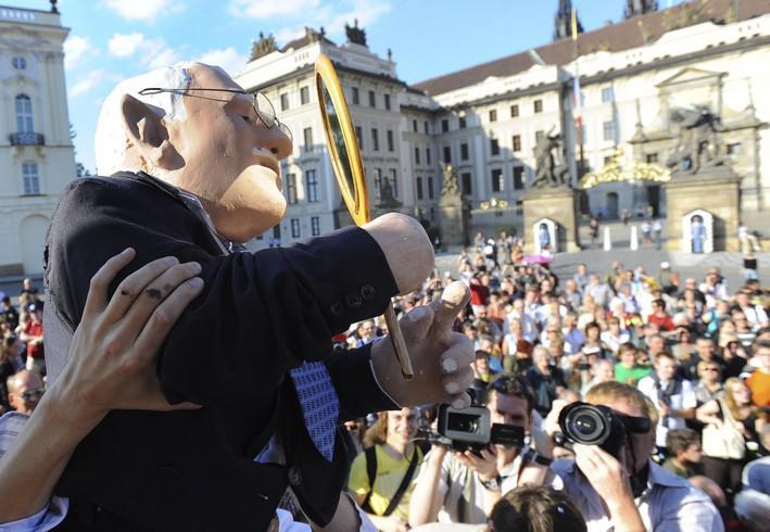 Demonstrace na Pražském hradě