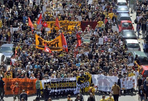 Demonstrace německých studentů