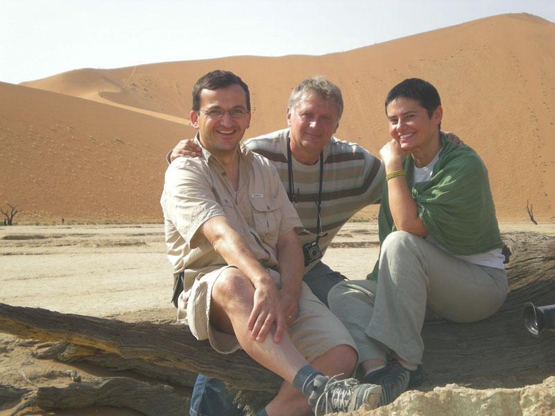 Štáb ČT v poušti Namib
