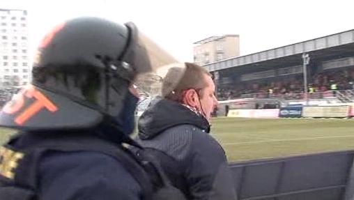 Zásah policie při brněnském utkání