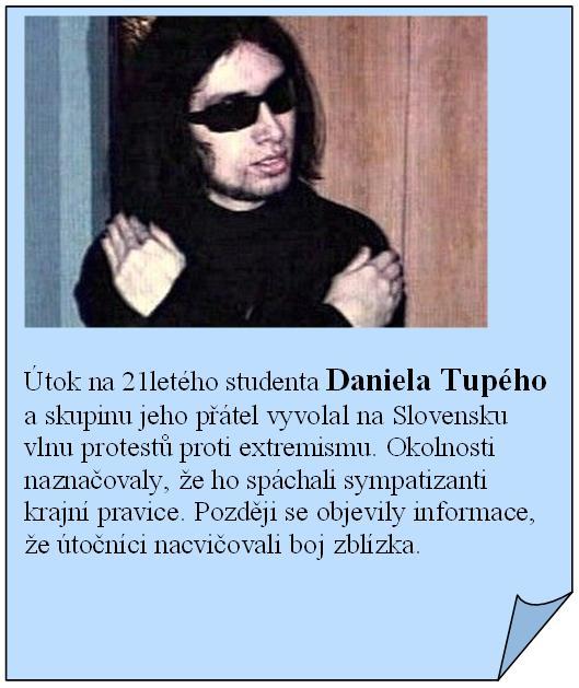 Útok na Daniela Tupého