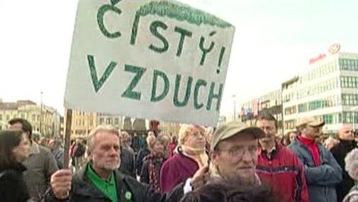 Demonstrace radvanických občanů