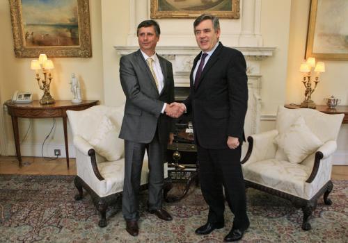 Jan Fischer a Gordon Brown