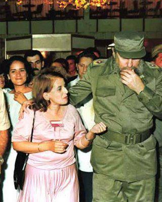 Hilda Molinaová s Fidelem Castrem