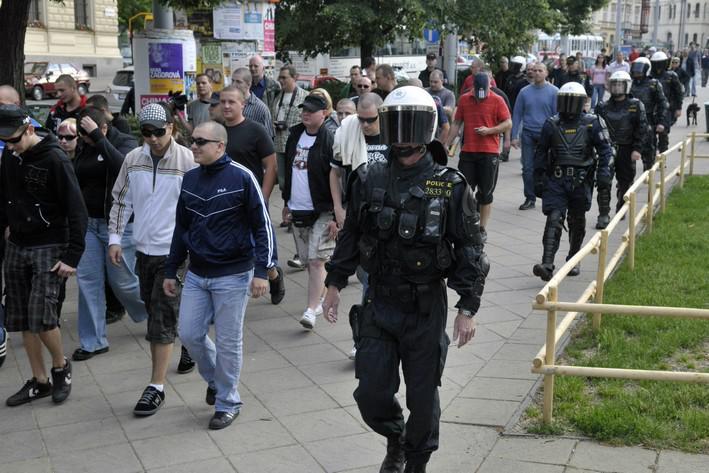 Protest proti zatčení extremistů