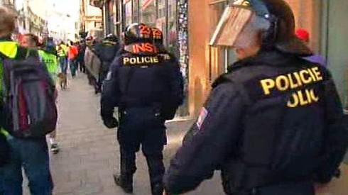 Zásah policistů