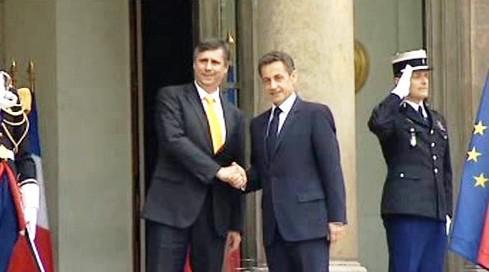 Jan Fischer a Nicolas Sarkozy