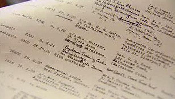 Seznamy evakuovaných dětí - 1938