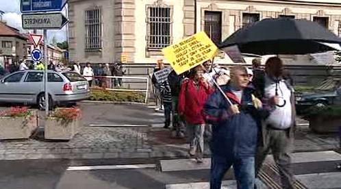 Protest na přechodu
