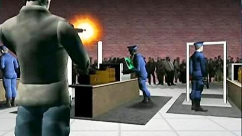 Vizualizace střelby v muzeu holokaustu