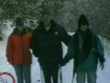 Ratko Mladić (urpostřed) se svou rodinou