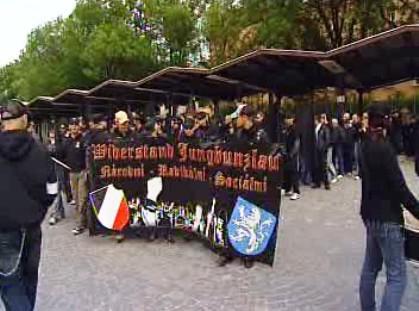 Pochod extremistů v Jihlavě