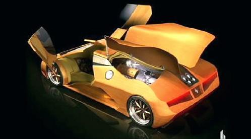 Auto ze dřeva