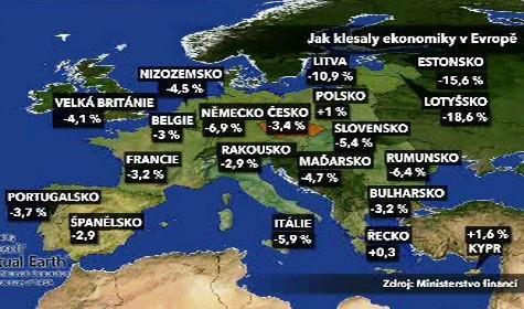 Pokles HDP v Evropě