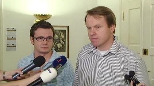 Ondřej Liška a Martin Bursík