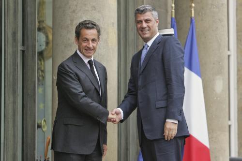 Nicolas Sarkozy a Hashim Thaçi