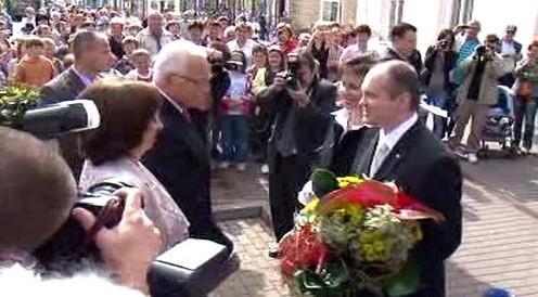 Václav Klaus na návštěvě v Brně