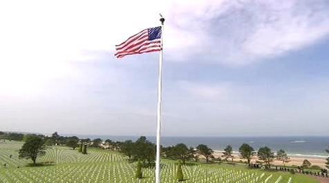 Vojenský hřbitov v Normandii