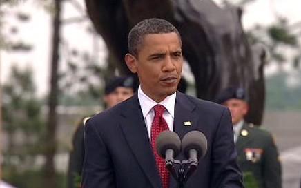 Barack Obama na oslavách 65. výročí vylodění spojenců v Normandii