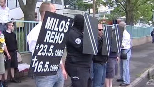 Smuteční pochod za Miloše Reha