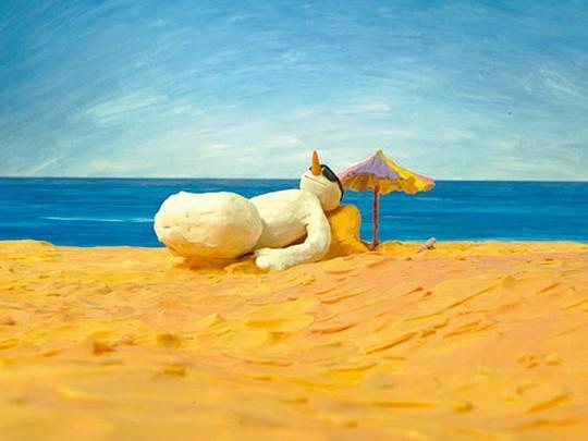 Mrkev na pláži