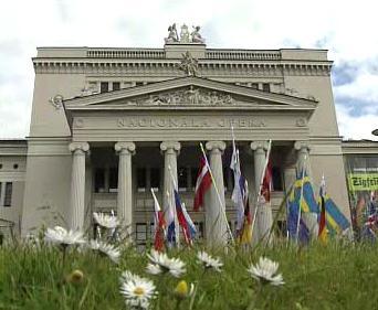 Budova Národní opery v Rize
