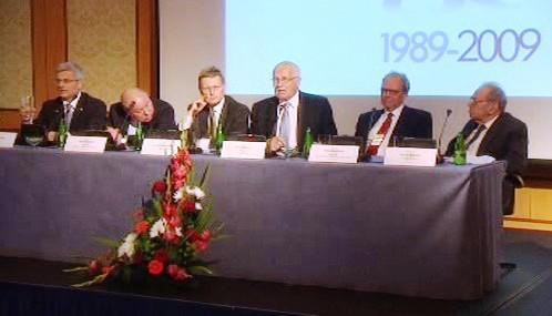 Václav Klaus na varšavské konferenci