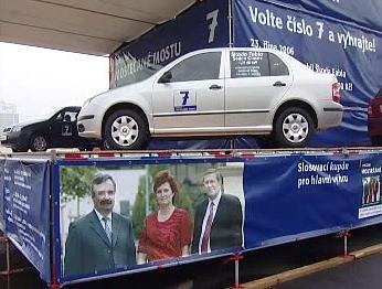 Výhry ve volební loterii
