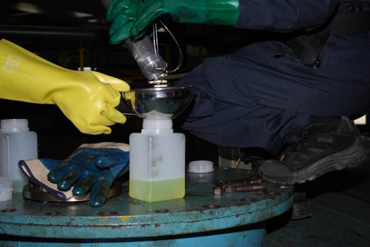 Zajištění vzorků pohonných hmot