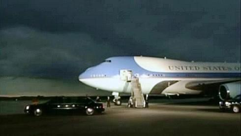 Přílet Baracka Obamy do Německa