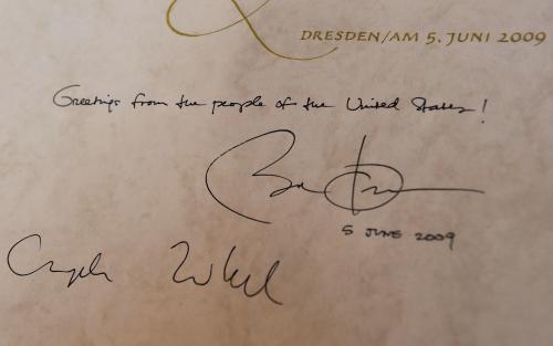 Věnování Baracka Obamy