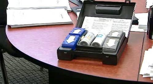 Kufřík na testování drog