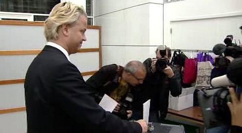 Geert Wilders u evropských voleb