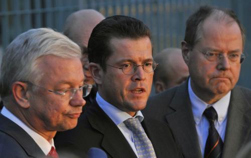 Zástupci německé strany po jednání o budoucnosti automobilky Opel